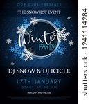 vector illustration of winter... | Shutterstock .eps vector #1241114284