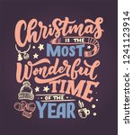 christmas inspirational quote.... | Shutterstock .eps vector #1241123914