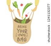 bring your own bag. vector...   Shutterstock .eps vector #1241132377