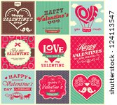 collection of retro vintage...   Shutterstock .eps vector #124113547