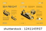 sea freight transport isometric ... | Shutterstock .eps vector #1241145937