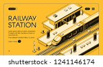 railway station isometric... | Shutterstock .eps vector #1241146174