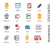 office icon set | Shutterstock .eps vector #1241146561