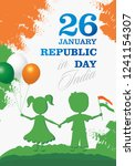 india republic day greeting... | Shutterstock .eps vector #1241154307