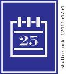 calendar icon in trendy flat... | Shutterstock .eps vector #1241154754