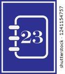 calendar icon in trendy flat... | Shutterstock .eps vector #1241154757