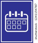 calendar icon in trendy flat... | Shutterstock .eps vector #1241154787