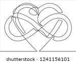 intertwined heart with the sign ...   Shutterstock .eps vector #1241156101