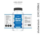bottle label  package template... | Shutterstock .eps vector #1241158861