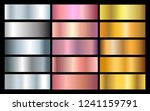 vector set of metallic... | Shutterstock .eps vector #1241159791