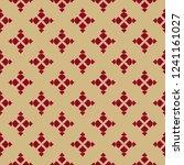 golden floral geometric... | Shutterstock .eps vector #1241161027