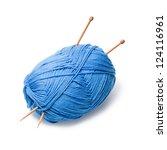 woolen thread and knitting... | Shutterstock . vector #124116961
