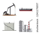 vector illustration of oil and... | Shutterstock .eps vector #1241170057