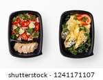 healthy home made meal in... | Shutterstock . vector #1241171107