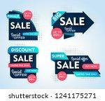 set of sale banners design.... | Shutterstock .eps vector #1241175271