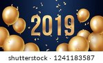 happy new year 2019 background... | Shutterstock .eps vector #1241183587