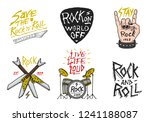 set of rock and roll music... | Shutterstock .eps vector #1241188087