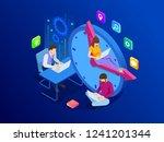 isometric effective time... | Shutterstock .eps vector #1241201344