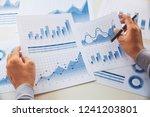 businessman working data... | Shutterstock . vector #1241203801