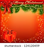 illustration christmas... | Shutterstock . vector #124120459