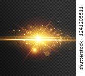 light effect glow. star flashed ... | Shutterstock .eps vector #1241205511
