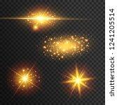 light effect glow. star flashed ... | Shutterstock .eps vector #1241205514