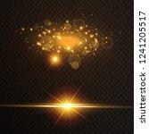 light effect glow. star flashed ... | Shutterstock .eps vector #1241205517