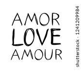 amor  love  amoure   words in... | Shutterstock .eps vector #1241209984
