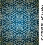 seamless damask floral wallpaper | Shutterstock .eps vector #124121329