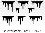 paint dripping. dripping liquid.... | Shutterstock .eps vector #1241227627