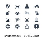 security icons | Shutterstock .eps vector #124122805