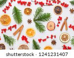 christmas composition. gifts ... | Shutterstock . vector #1241231407