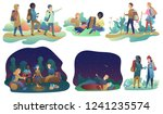 young romantic couples and... | Shutterstock .eps vector #1241235574
