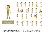 vector young adult woman in... | Shutterstock .eps vector #1241242441