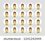 vector young adult woman... | Shutterstock .eps vector #1241242444