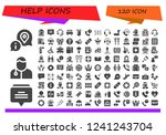 vector icons pack of 120 filled ... | Shutterstock .eps vector #1241243704