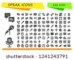 vector icons pack of 120 filled ... | Shutterstock .eps vector #1241243791