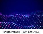 abstract digital landscape or... | Shutterstock .eps vector #1241250961