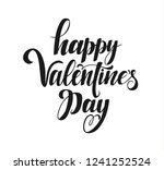 happy valentine's day vector... | Shutterstock .eps vector #1241252524
