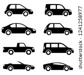 different cars icons collection.... | Shutterstock .eps vector #1241258977