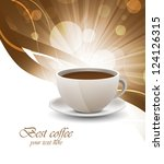 coffee cup on bright background | Shutterstock .eps vector #124126315