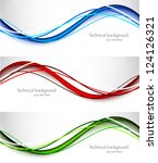 set of wavy banners. abstract... | Shutterstock .eps vector #124126321