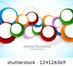 abstract background with circles | Shutterstock .eps vector #124126369