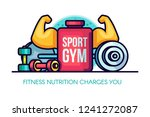 sports gym nutrition... | Shutterstock .eps vector #1241272087