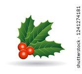 vector illustration of holly...   Shutterstock .eps vector #1241274181