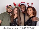 group of friends in funny...   Shutterstock . vector #1241276491