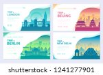 travel information cards.... | Shutterstock .eps vector #1241277901