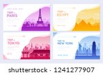 travel information cards.... | Shutterstock .eps vector #1241277907