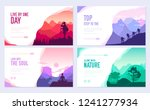 sport rest day vector brochure... | Shutterstock .eps vector #1241277934