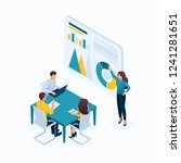 isometric concept young... | Shutterstock .eps vector #1241281651